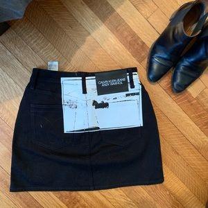 Calvin Klein x Andy Warhol black miniskirt